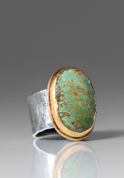Greig Porter Royston Turquoise Oval Ring