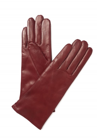 Hestra Cashmere Lined Hairsheep Gloves in Dark Red