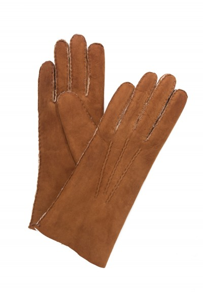 Hestra Handsewn Lambskin Suede Gloves in Cork