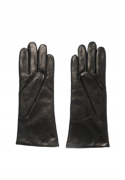 Hestra Isabel Hairsheep Leather Gloves in Black