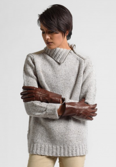 Hestra Isabel Hairsheep Leather Gloves in Chestnut