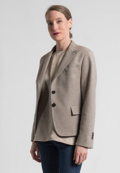 Pauw Classic Three-Button Blazer in Ecru