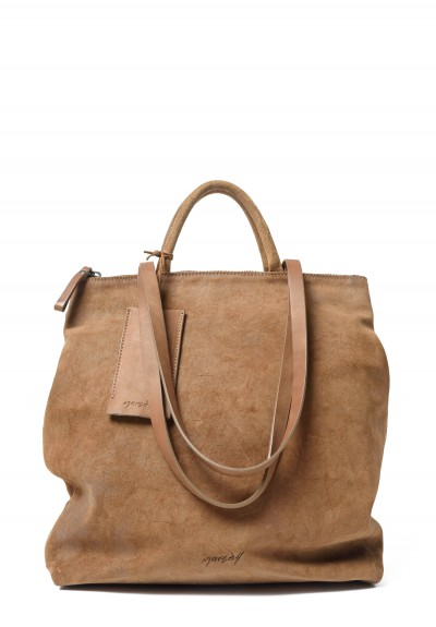 Marsèll Tall Tote Bag in Suede