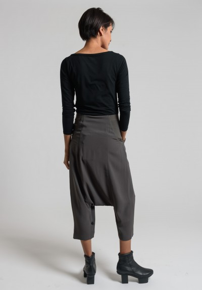 Rick Owens Swing Elastic Waist Pants in Dark Dust