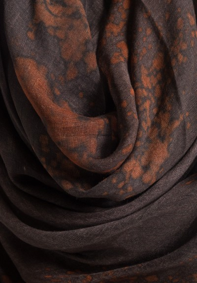 Avant Toi Modal Splatter Dyed Scarf in Cocoa