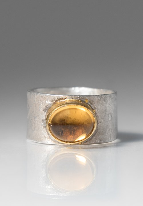 Greig Porter Small Oval Citrine Ring