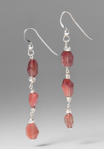 Greig Porter Sunstone Beaded Drop Earrings