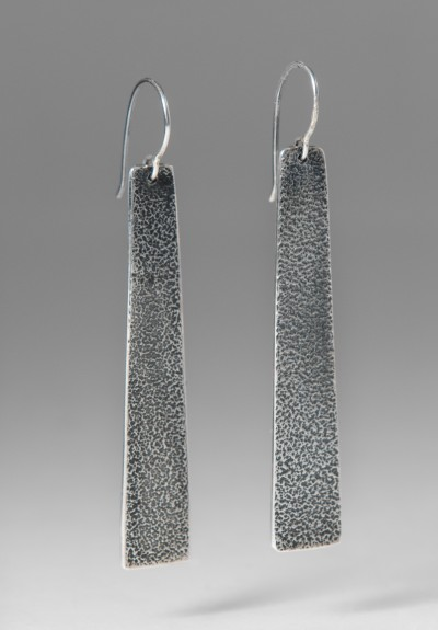 Greig Porter Textured Silver Slab Earrings