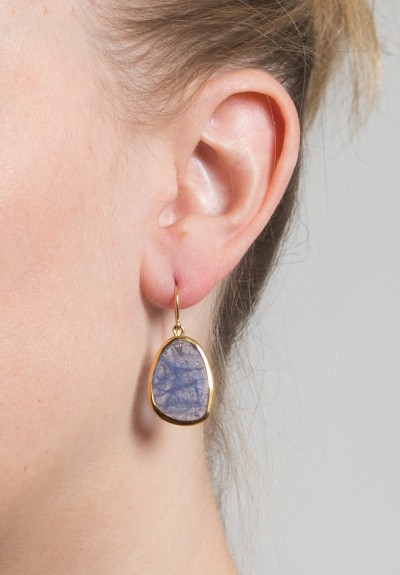Greig Porter Unfaceted Tanzanite Earrings