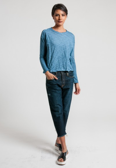 Gilda Midani Long Sleeve Trapeze Tee in Stain