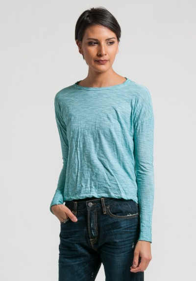 Gilda Midani Long Sleeve Trapeze Tee in Sea