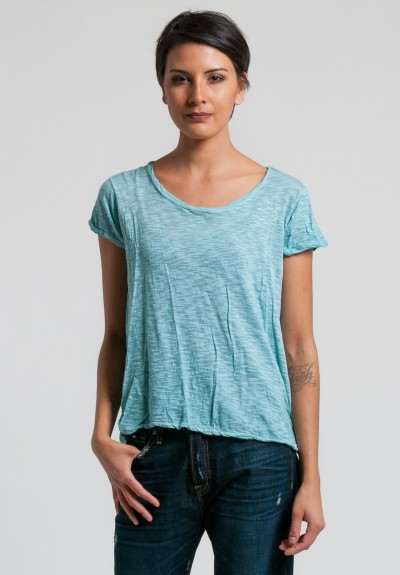 Gilda Midani Short Sleeve Monoprix Tee in Sea
