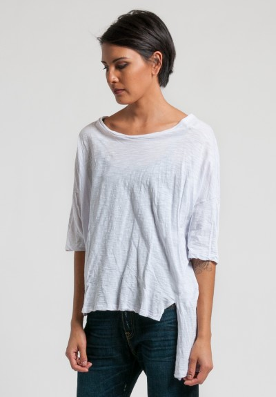 Gilda Midani Short Sleeve Super Tee in White