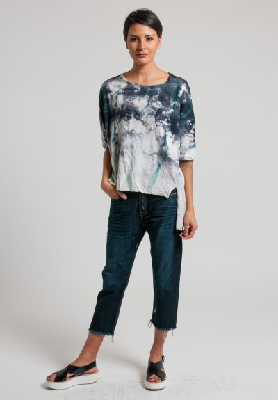 Gilda Midani Short Sleeve Super Pattern Tee in Lisbon Stain