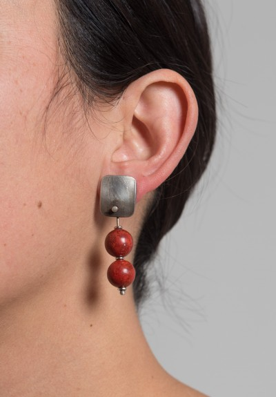 Holly Masterson Sponge Coral Drop Earrings