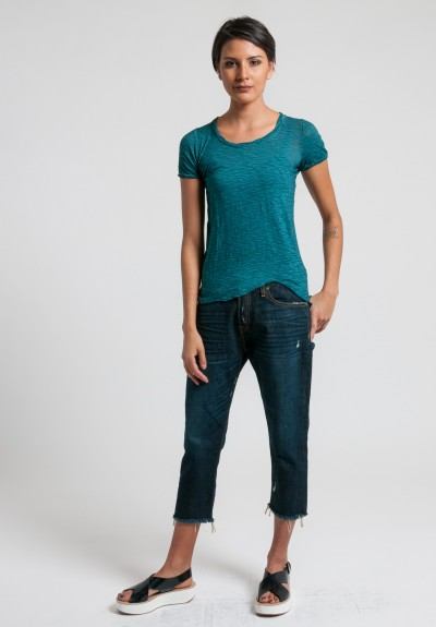 Gilda Midani Round Neck Tee in Dark Teal