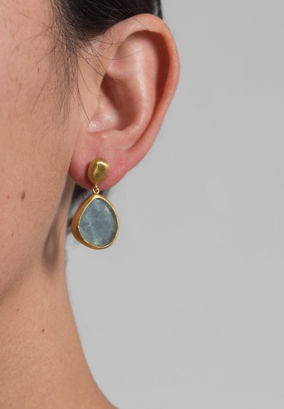 Yossi Harari Roxanne Aquamarine Drop Earrings