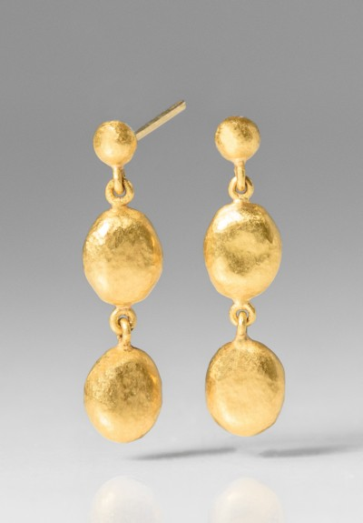 Yossi Harari Roxanne 24K Drop Earrings