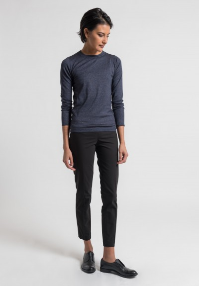 Brunello Cucinelli Tailored Pull-On Pants in Black