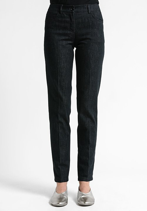 Akris Stretch Cotton Magda Slim Jeans in Black