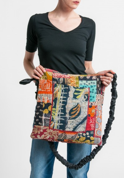 Mieko Mintz 5-Layer Vintage Cotton Messenger Bag in Multi