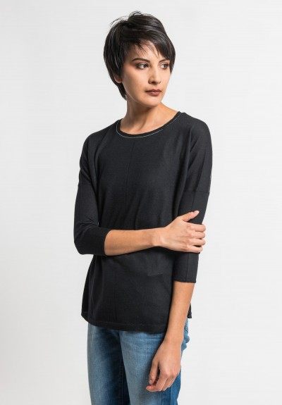 Paychi Guh Tissue Weight Sweater in Black