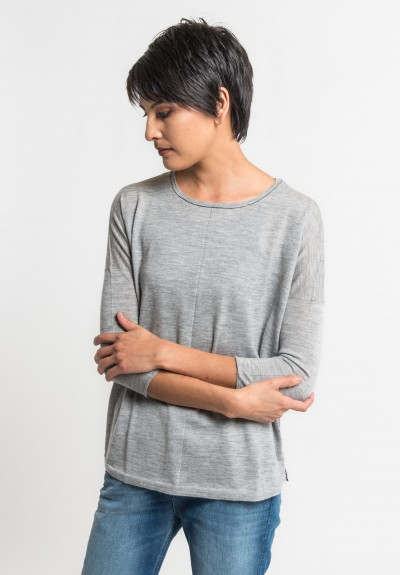 Paychi Guh Tissue Weight Sweater in Heather Steal