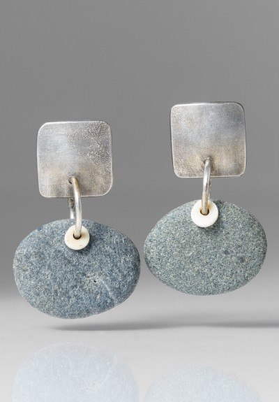 Holly Masterson Horizontal Oval Stone Earrings