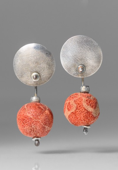 Holly Masterson Red Sponge Coral Earrings