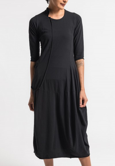 Rundholz Black Label Long External Pocket Dress in Black