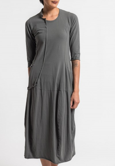 Rundholz Black Label Long External Pocket Dress in Shark