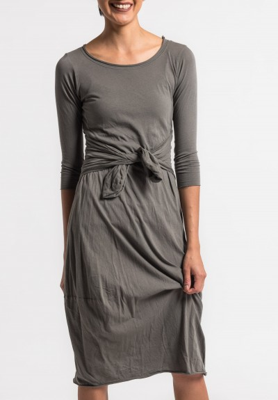 Rundholz Black Label Lightweight Back Tie Dress in Shark