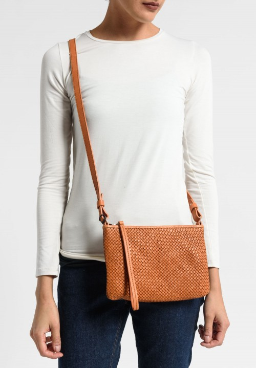 Massimo Palomba Lily CB Wood Bag in Cuoio