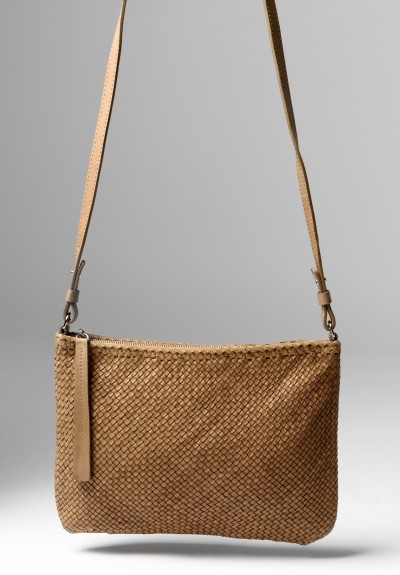 Massimo Palomba Momo CB Wood Cross Body Bag in Desert