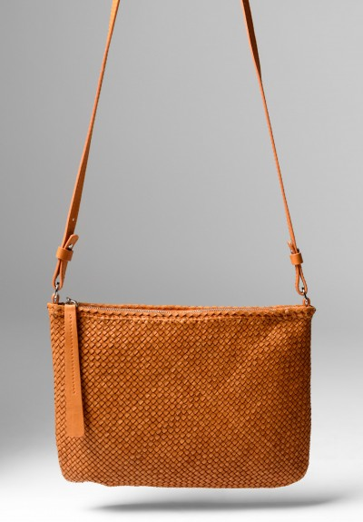 Massimo Palomba Momo CB Wood Cross Body Bag in Cuoio
