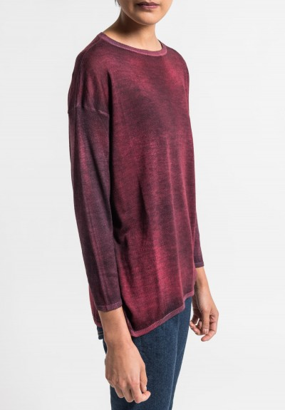 Avant Toi Lightweight Crew Neck Sweater in Melograno