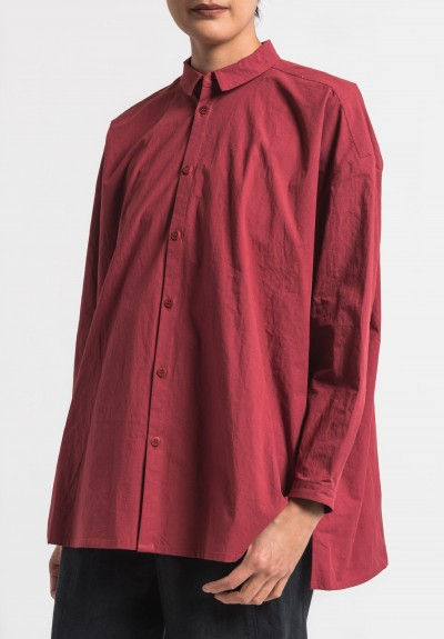 Toogood Cotton Percale Draughtsman Long Shirt in Barn