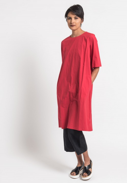 Toogood Cotton Percale Printer Tunic in Tractor