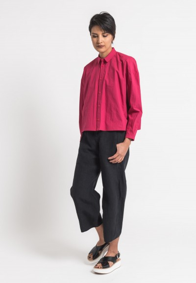 Toogood Cotton Percale Short Draughtsman Shirt in Rhubarb