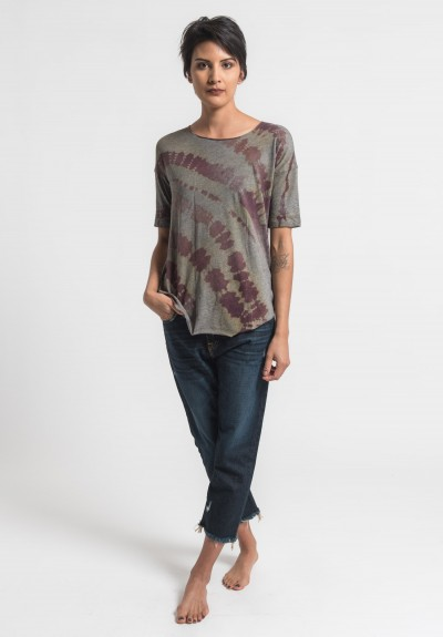 Raquel Allegra Short Sleeve Tee in Mulberry