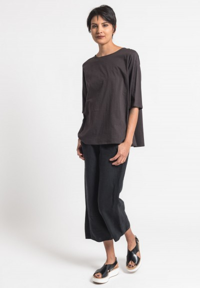 Toogood Double Cotton Printer Top in Soot