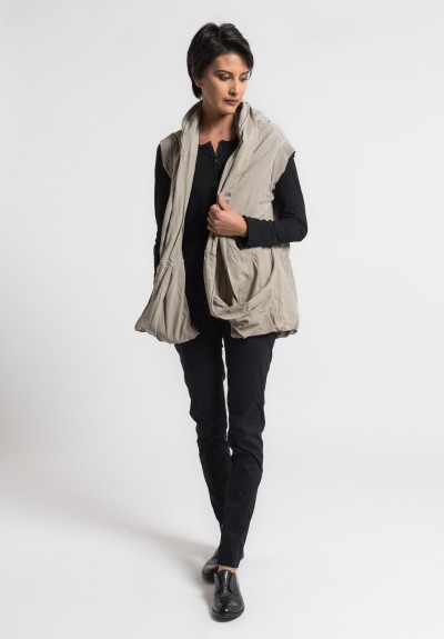 Rundholz Dip Draping Circle Vest in Desert
