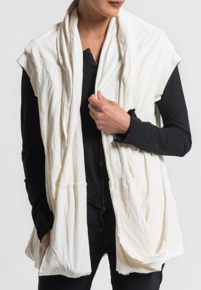 Rundholz Dip Draping Circle Vest in Milk
