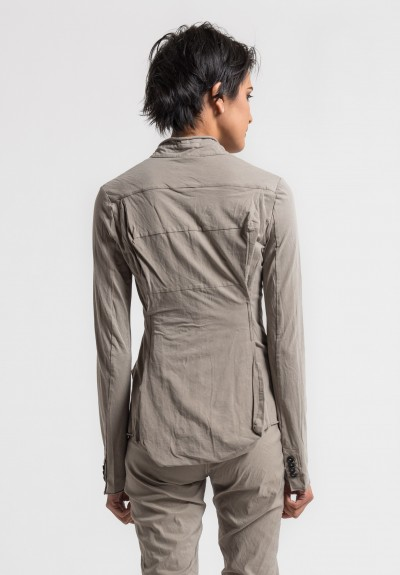 Rundholz Stretch Cotton Fitted Jacket in Desert