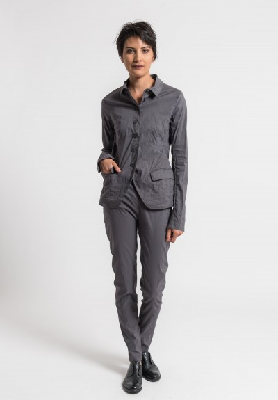 Rundholz Linen/Cotton Lightweight Jacket in Moon