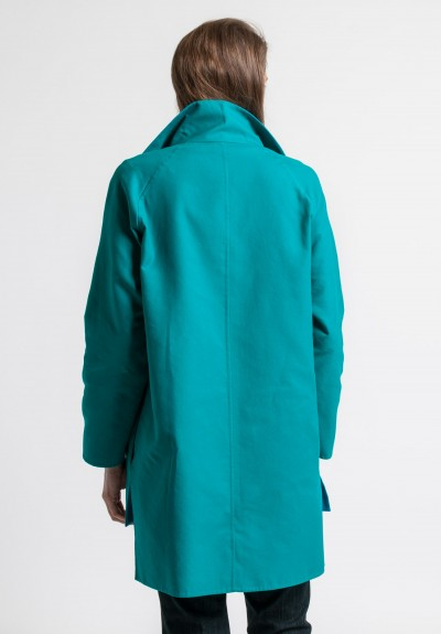 Akris Cotton Japon Jacket in Green/Whirlaway