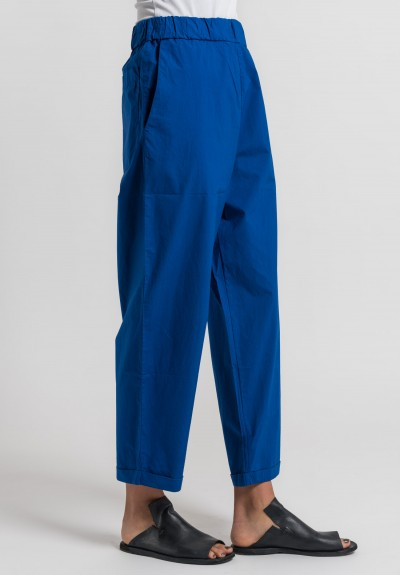 Labo.Art Panta Vela Clara Cotton Pants in Royal Blue