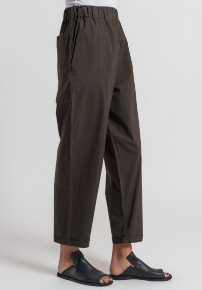 Labo.Art Panta Vela Clara Cotton Pants in Moro