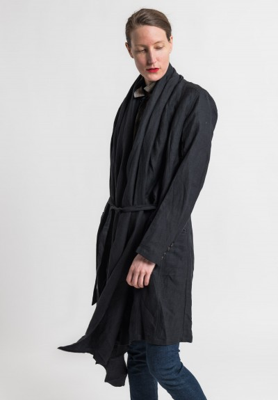 Nicholas K Linen/Cotton Kilmer Jacket in Black