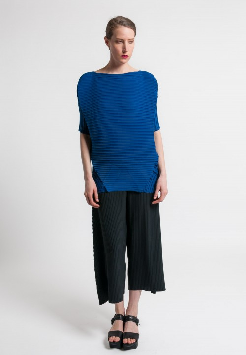 Issey Miyake Tribal Pleat Top in Blue